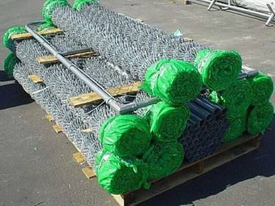 galvanized chain link fence in packing