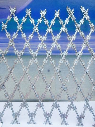 Welded Razor Wire Mesh As A Security Fence