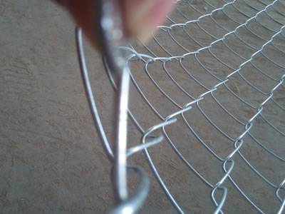 Galvanized chain link fence wire diameter 05 4 mm a coins thickness is compared with chain links thickness greentooth Gallery
