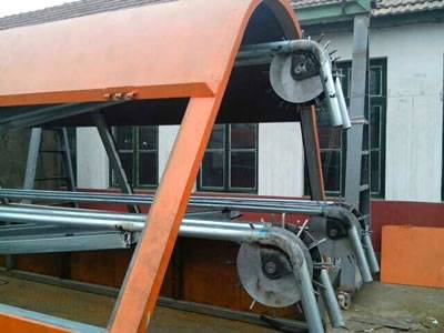 An orange razor wire trailer with transmission lever and on the lever there is silver white gear.