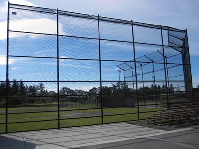 A chain link security fence of high height and small size of mesh is used in large stadium.