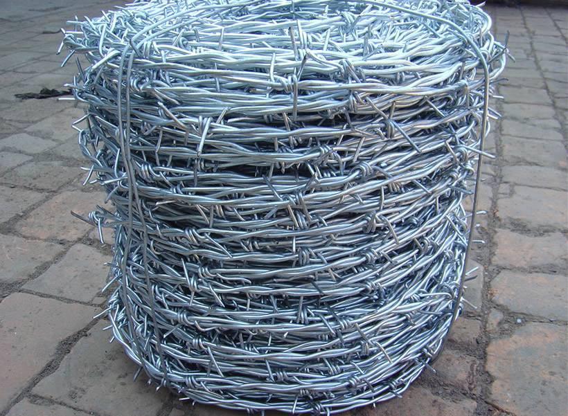 Galvanized Barbed Wire Twist Wire Diameter 1 6 4 Mm