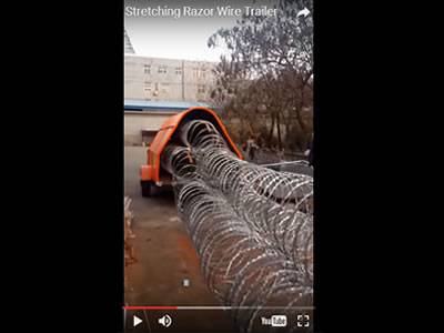 Video of Razor Wire Trailer Operation