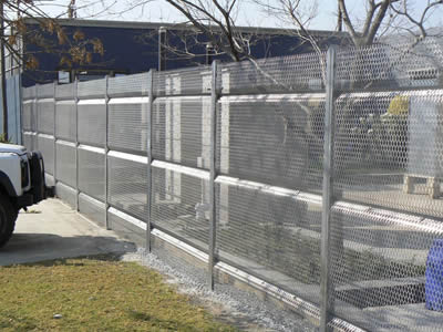 Expanded Metal Security Fences for Highway, Court, Farm Fencing
